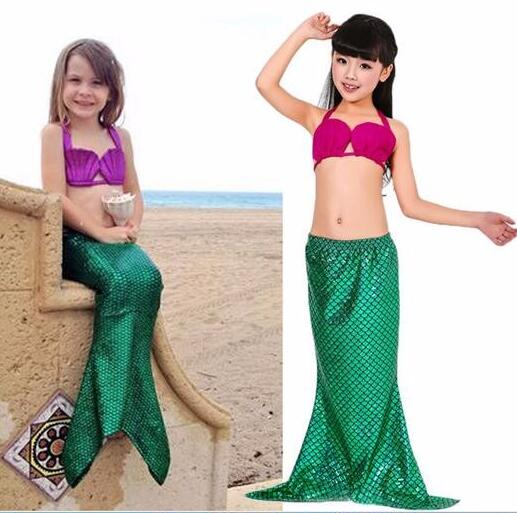 Ariel The Little Mermaid Halloween Cosplay Costume For Girl Kids Dress