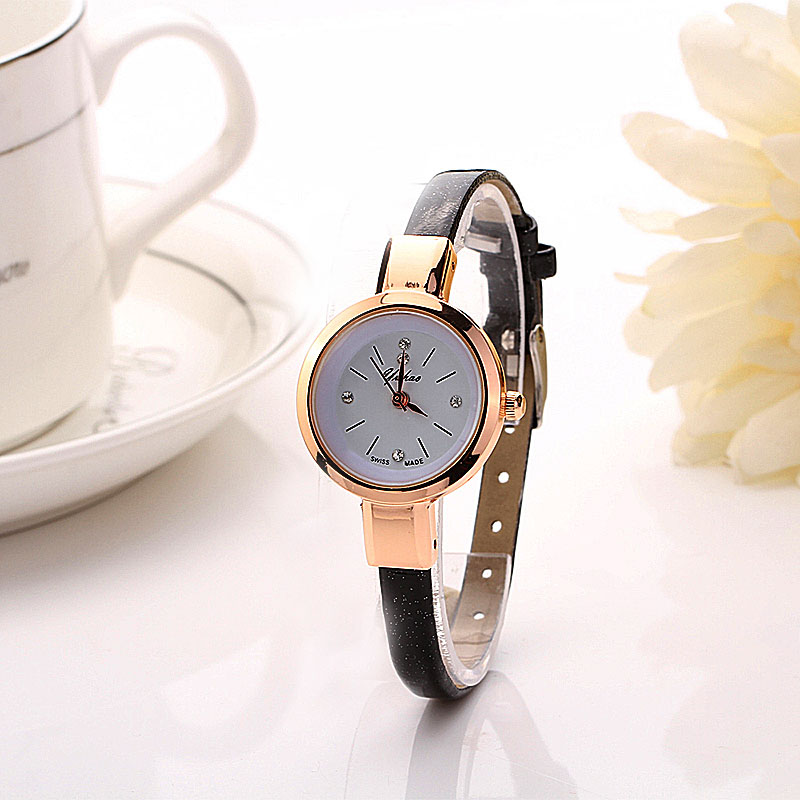 2017 Hot Sale relogio feminino montre femme Fashion Women Lady Round quartz-watch Analog Bracelet Wristwatch Watch relojes Gift