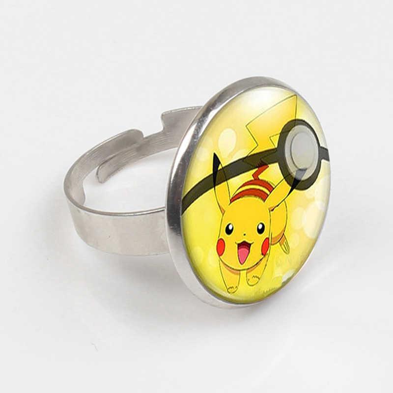 ZBOZWEI 2018 Pokeball Pokemon Vulpix Criativo Chaveiro Banhado Rodada Cúpula De Vidro Artesanal Ir Anel Bonito Mega Presente Chaveiro Absol