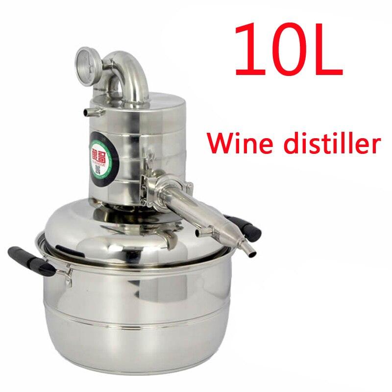 10L 2.64GAL Water Alcohol Distiller Home Brew Kit Still Wine Making Essential Oil Boiler 110V / 220V 10l water alcohol distiller home brew kit still wine making essential oil boiler