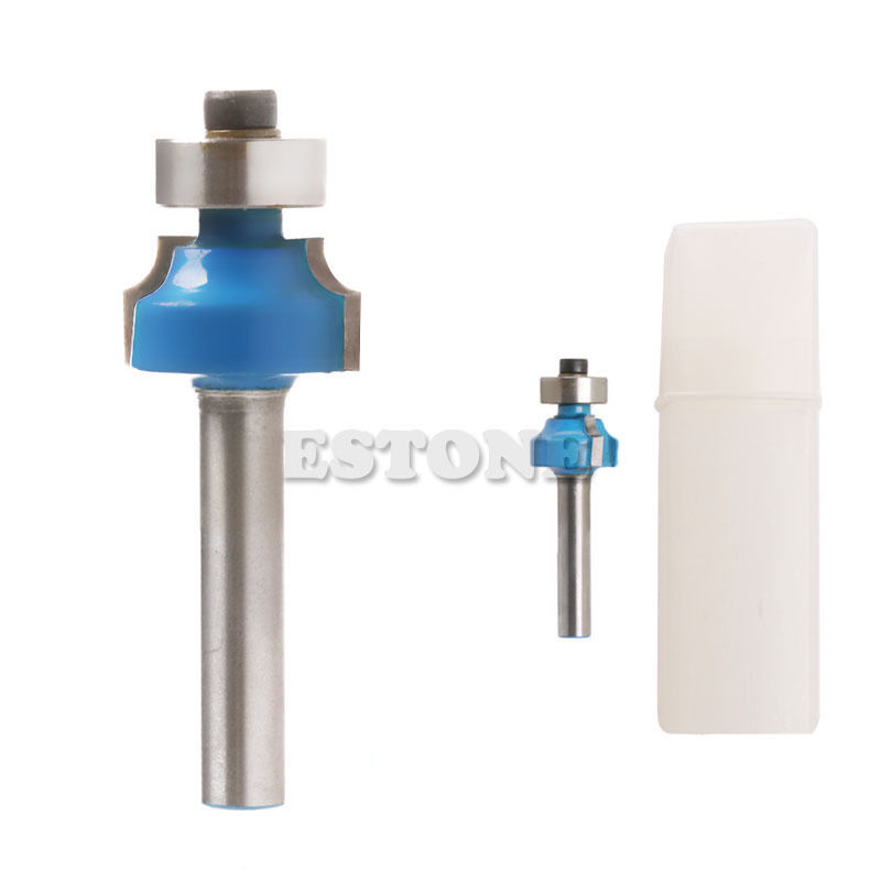 New 1/4 Radius 1/4 Shank Round Over Beading Edging Router Bit Woodworking Tool 1pc 1 4 shank round over router bit 3 4 radius woodworking cutter for power tool blue
