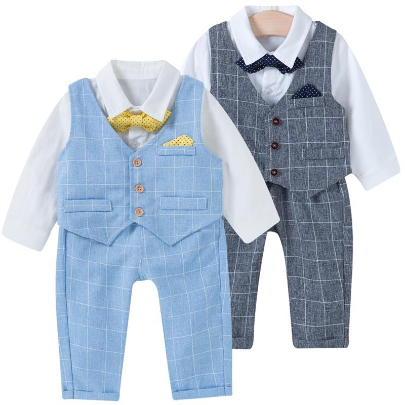 famuka Baby Boys Outfit Set 3 Pieces Suit Wedding Clothes