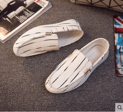Style Chaussures À 44 Mocassins Noir Slip Toile Taille Conduite Plates Hommes Vintage 39 Occasionnels Mode Noir blanc Blanc La on 4Rqv5EEw