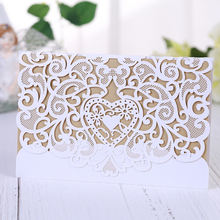1Piece Event & Party supplies romantic Wedding Engagement invitations,share wedding announcement laser cut paper invitations