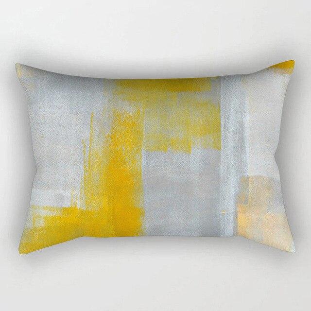 2018 nuovo arrivo giallo serie cuscino copre 30*50 cm della vita decorativo federe per divano di casa auto decorazione cussins tessili per la casa