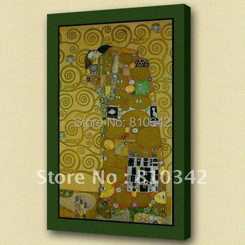 Wholesale handmade reproduction famous paintings of klimt home supplies