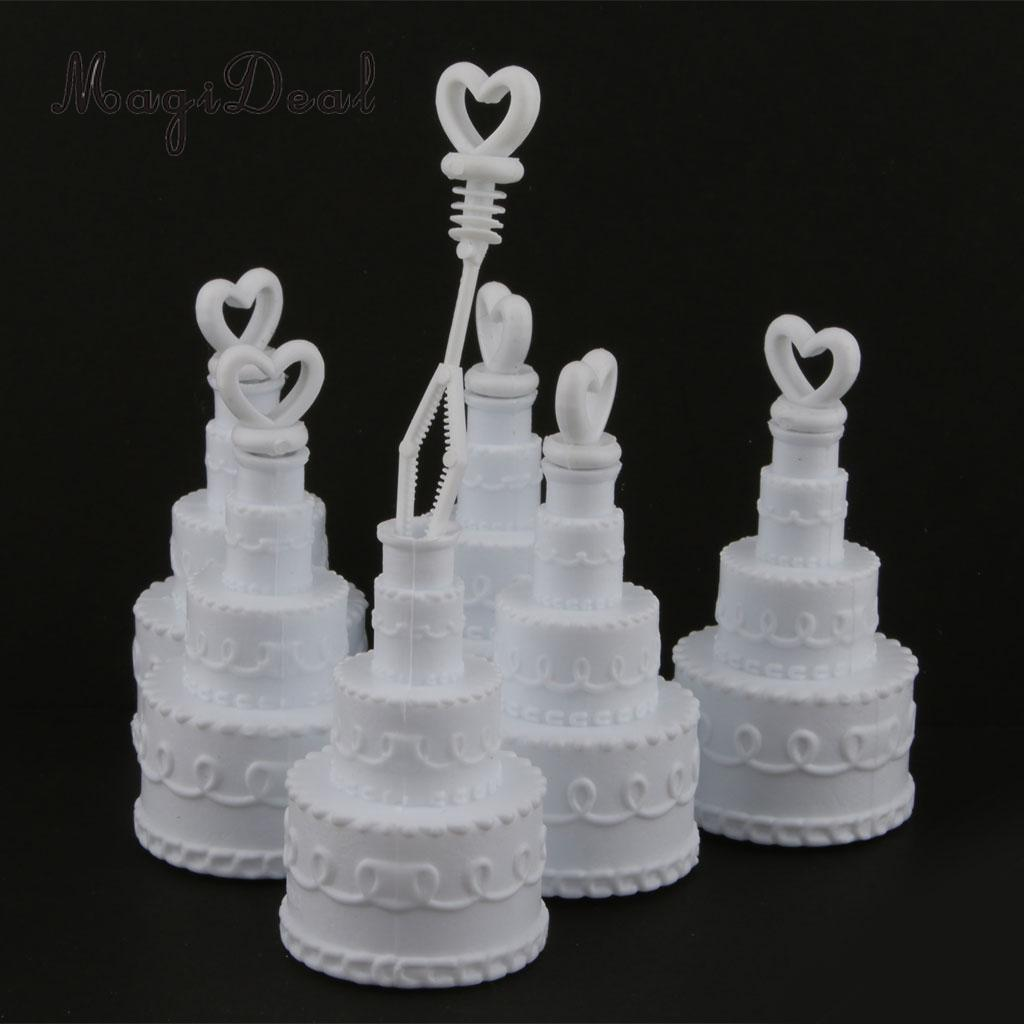 MagiDeal 24pcs/Lot Cake Goblet Bubble Blowing Bottles Wedding Party Flavors Table Decor Baby Shower Party Favors Gifts Kids Toys