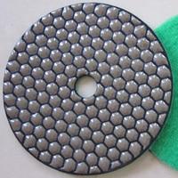 5 125mm DRY Diamond Polishing Pads For Granite Marble Concrete