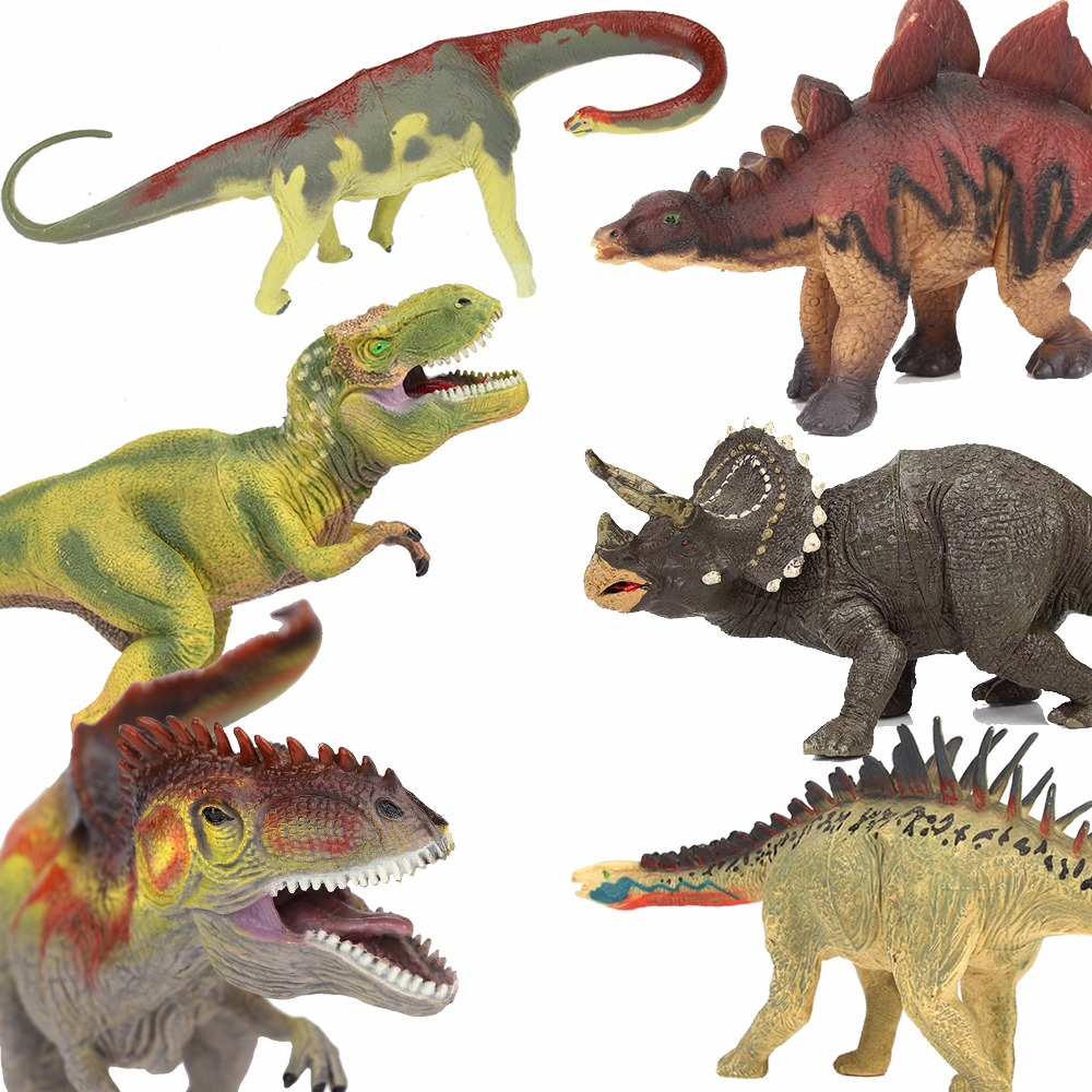 Lamwin 6Pcs/Lot Large Dinosaur Toy Collection Set Jurassic World Park Hollow Model Figure Free Gift Dinossauro Egg jurassic velociraptor dinosaur pvc action figure model decoration toy movie jurassic hot dinosaur display collection juguetes