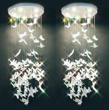 Butterfly chandelier Nordic acrylic porch cloakroom simple stairwell cloakroom bar table decoration bedside chandelier led lamp(China)