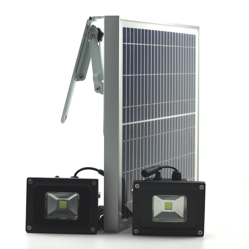Solar LED Light with Double Lights Garden Lamp LED Lighting Solar Panel Light Outdoor Camping Hiking 10W LED Runtime12 Hours