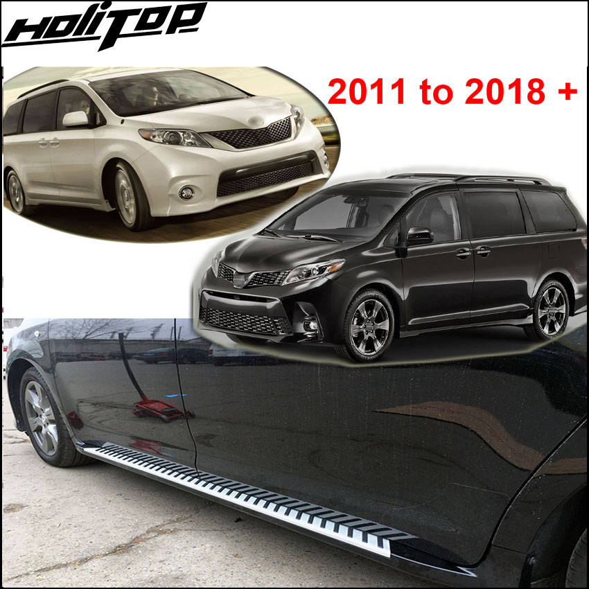 hot running board side step side bar foot bar Pedal for Toyota Sienna 2011-2018,5years old seller,top quality,promotion price свитшот print bar old slavyanin