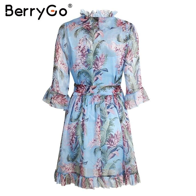 Berrygo cortocircuito de la gasa vestidos de fiesta vestidos de fiesta de verano