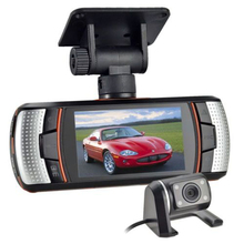 On sale 2.7 Dual Lens Car Vehicle 1080P HD Dash Camera DVR Cam Night Vision Recorder Futural Digital Drop Shipping AUGG10