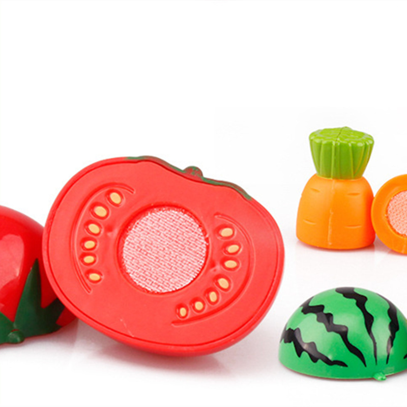 Hot Sale Plastic Kitchen Food Fruit Vegetable Cutting Kids Pretend Play Educational Toy Safety Children Kitchen Toys Sets #6