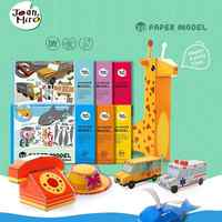 children Brand 3D paper model puzzle toys/ Kids baby card models safe DIY handmade cartoon puzzle toys, free shipping