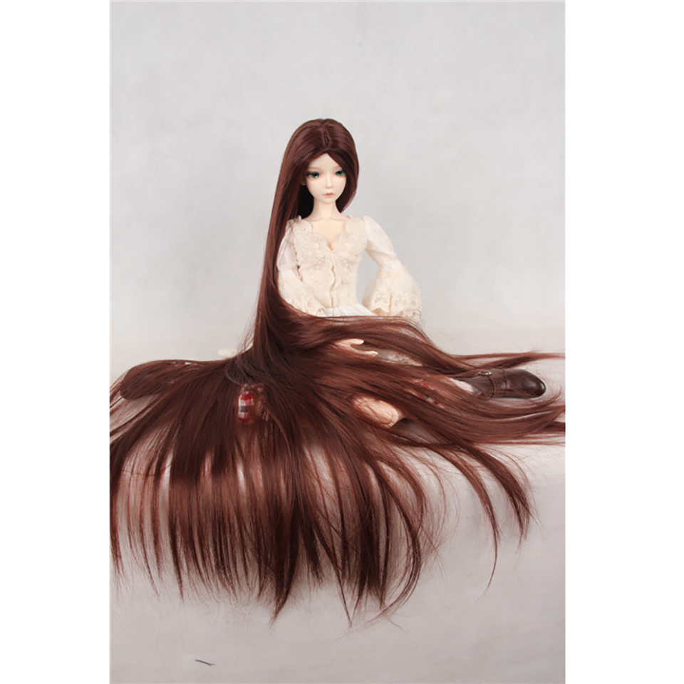 Bybrana 70cm BJD Wig For 1/3 1/4 1/6 1/8 High Temperature Fiber Girl Multi-color Very Long Hair For Dolls