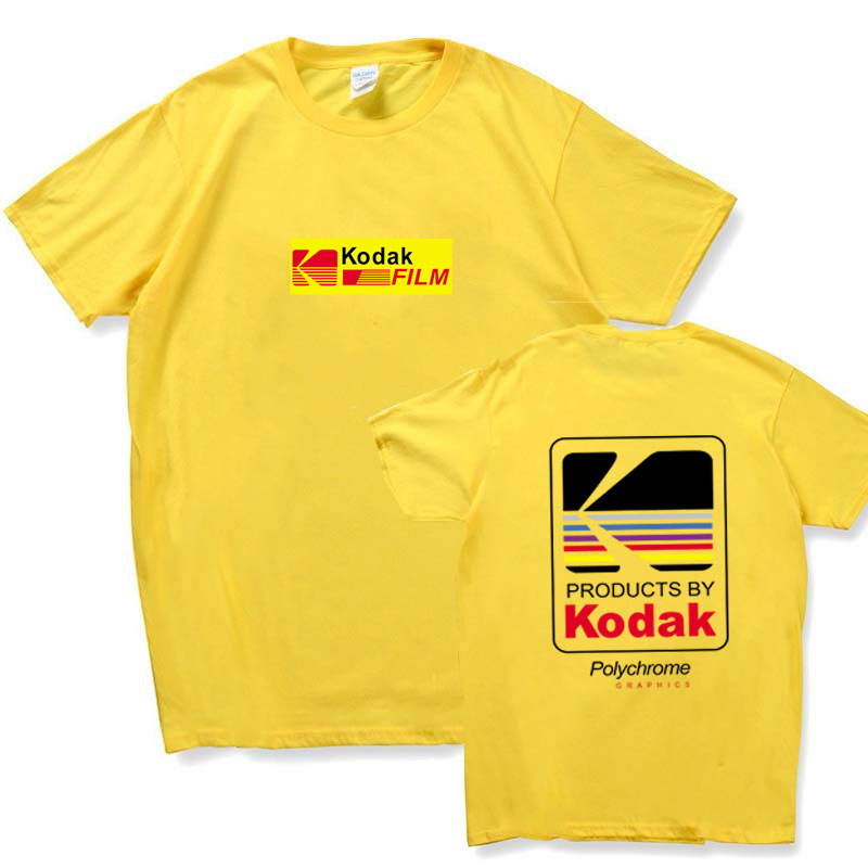 2018 Summer Men Women Tee INS Korea Retro Loose Wild Kodak Letter Short-sleeved KODAK Cotton   T     shirt   S-2XL