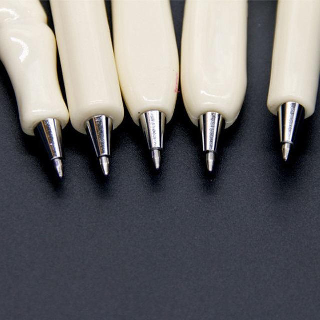 5 pcs/lot Novelty Bone Shape Ballpoint Pen 0.7mm Blue Ink Refill Writing Ball Pens School Office Stationery Gifts Supplies 2