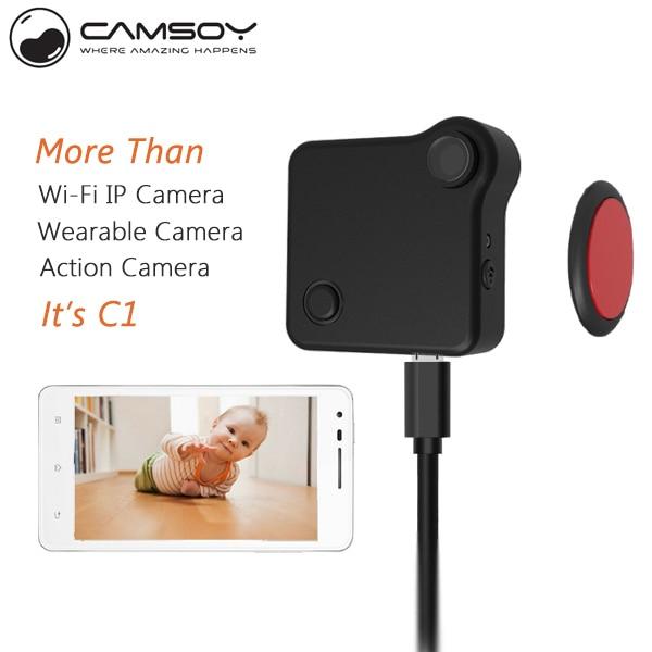CAMSOY C1 Body Mini camera mini camcorder P2P IP WIFI Camera portable camcorders HD720P  Magnetic Clip Bike camera micro camera