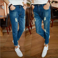 Hot selling fashion hole men jeans korean style slim straight  men pants Free Shipping MF7593241