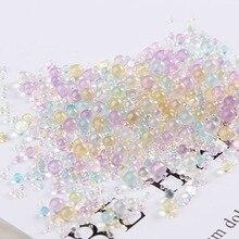 10 г/упак. мини шарики-пузырьки 0,4-3 мм Смешанные крошечные бусины для стеклянного глобуса, кремниевые формы, наполнителя, амулеты для рукоделия, домашнего декора