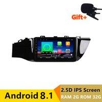 9 2 ГБ + 32 ГБ, 2.5D ips Android 8,1 Автомобильный мультимедийный dvd плеер gps для KIA Rio 4 K2 2017 2018 автомобиль радио стерео навигации Встроенная WI FI