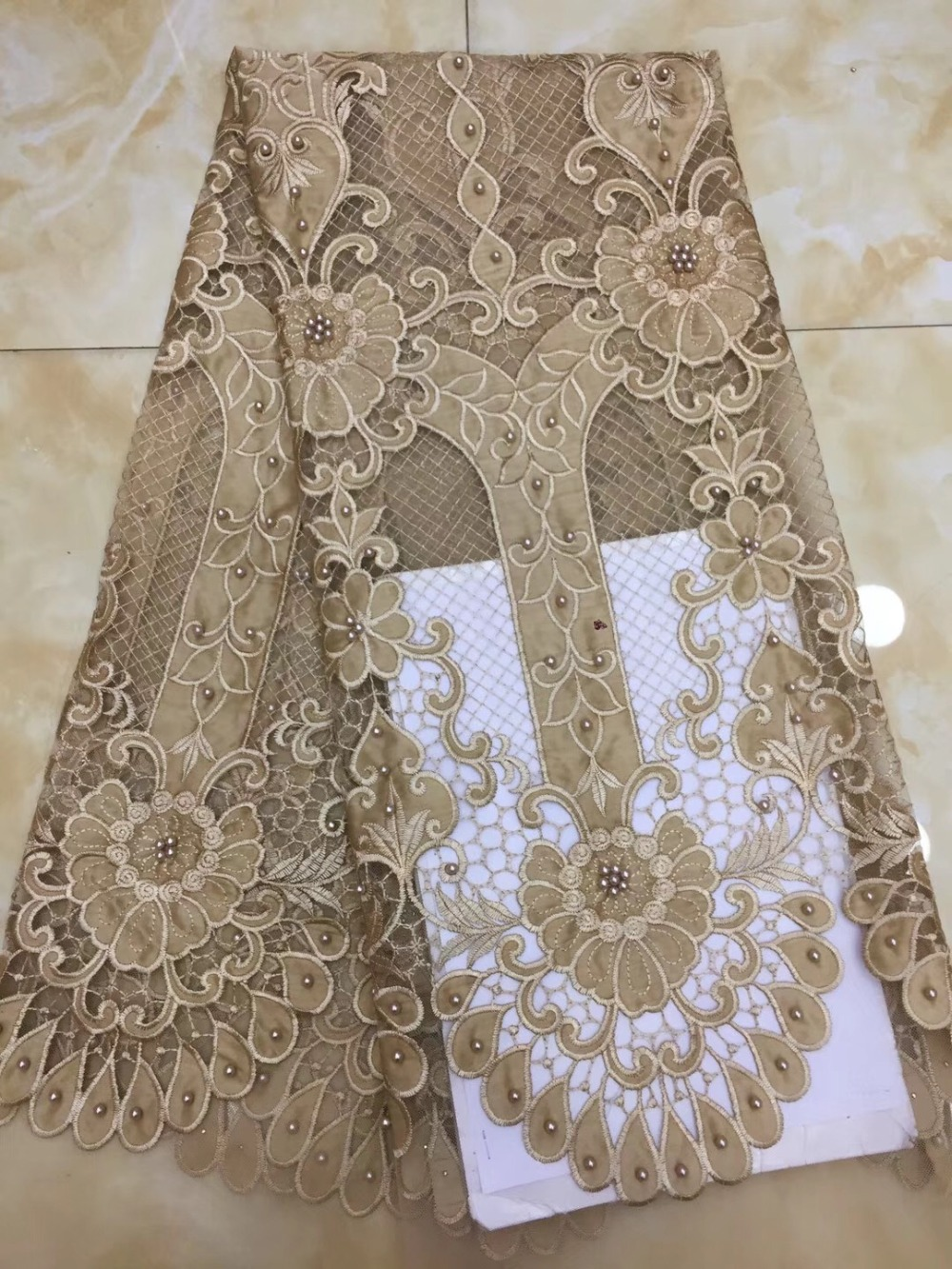 Latest French Lace Fabric Best Quality African chiffon Lace Fabric With Beads Embroidery Nigerian Party DressLatest French Lace Fabric Best Quality African chiffon Lace Fabric With Beads Embroidery Nigerian Party Dress