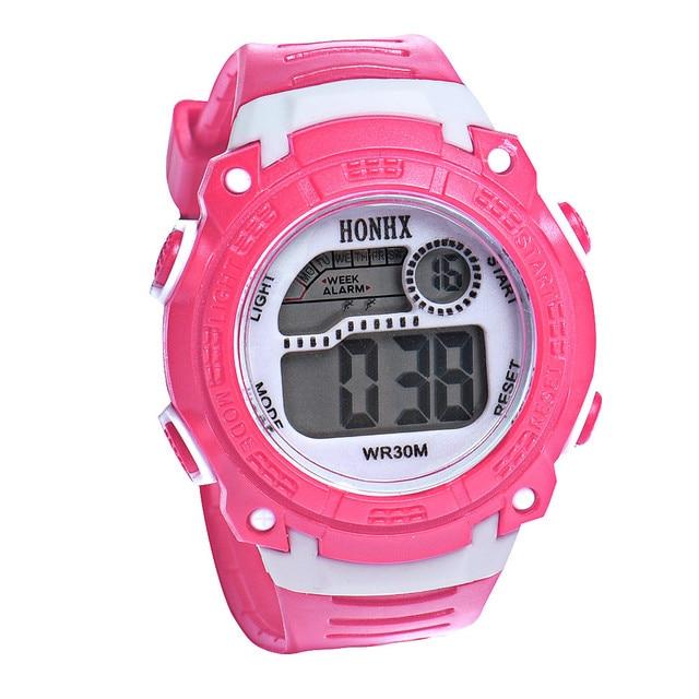 2018 Waterproof Digital Watch Children Girls Digital LED Quartz Alarm Date Sport
