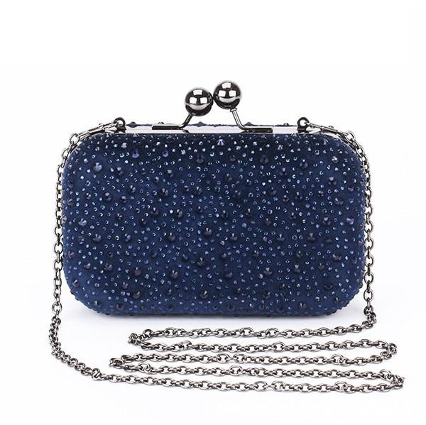 0acaf42e6a Hot crystal Clutch Bag 6 colors evening purse crystals clutch chain  shoulder bag women s handbag Gold