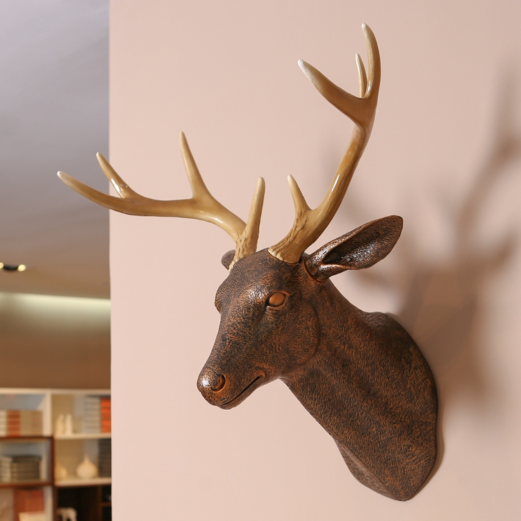 wall Mounted plastic archaize deer head fake art sculpture of home  decoration ornaments hanging plate samples Window dressing - Online Get Cheap Plastic Deer Head Wall Mount -Aliexpress.com