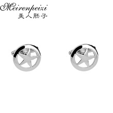 New European And American Popular Jewelry Pentacle French Cufflinks For Men Terra Planet Shirts Cuff Nails
