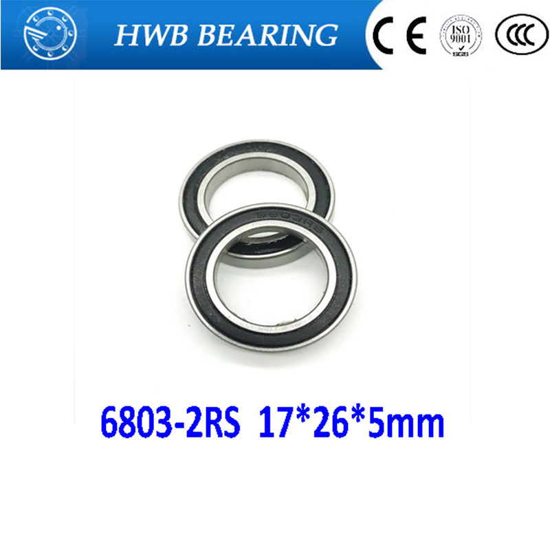 Free shipping 6803-2RS 6803 61803-2RS hybrid ceramic deep groove ball bearing 17x26x5mm free shipping 699 2rs cb 699 hybrid ceramic deep groove ball bearing 9x20x6mm