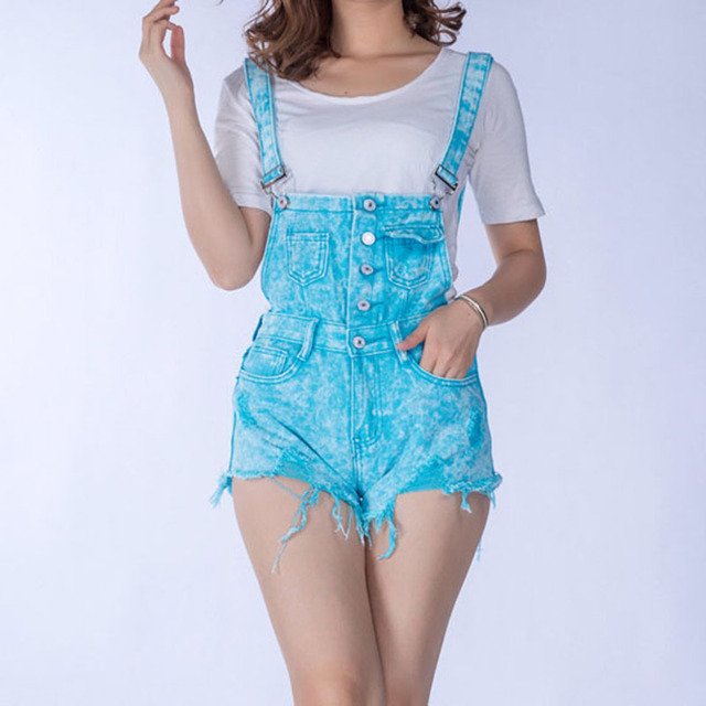 886ff45150 Nice Summer Cheap Cloth Women Denim Playsuits Cotton Strap Rompers Shorts  Loose Casual Overalls Shorts Lady s Fashion Playsuits