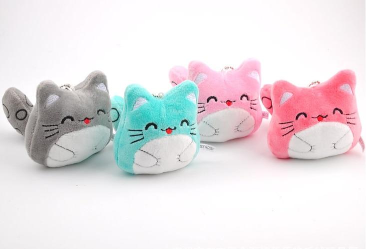 Hot New Multi Colors 9CM Keychain Plush Totoro Stuffed Plush Toy Doll Kid's Party Gift Plush Toy B0884