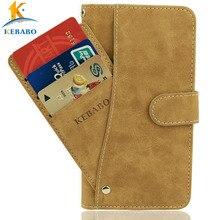 """Кожаный бумажник Tecno Phantom 8 чехол 5,"""" Флип Винтаж кожа спереди слоты для карт чехол бизнес телефон защитный сумки"""