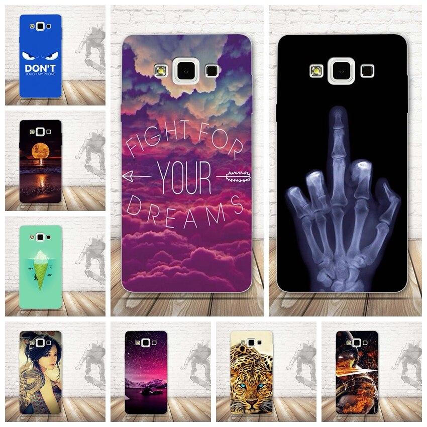 Роскошные печати чехол для samsung Galaxy A7 A7000 2015 телефон силиконовый чехол задняя крышка для samsung A7 Мягкий ТПУ shell Обложка сумка