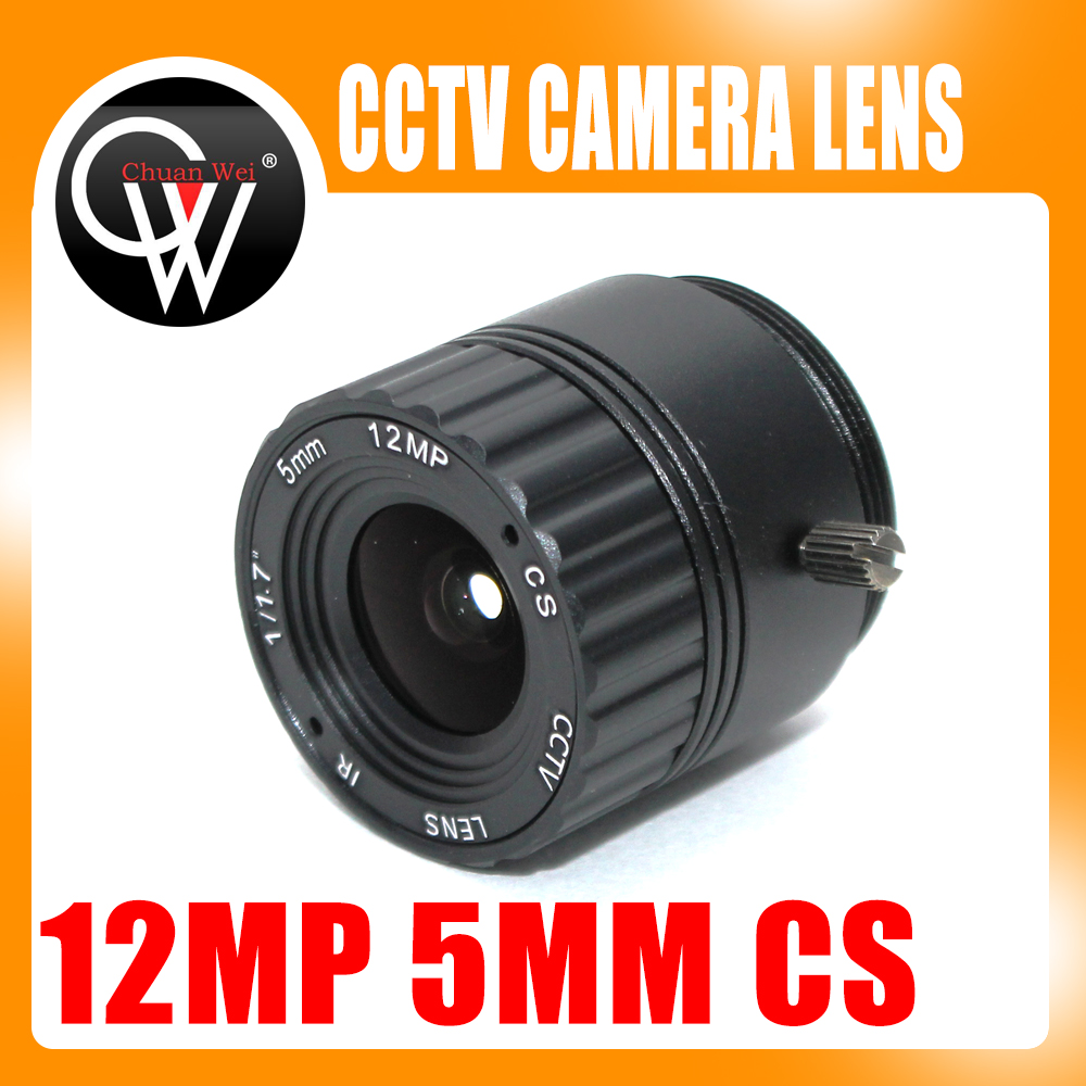 Cctv Parts Security & Protection Chuan Wei 12megapixel 4k 5mm Lens Fixed Cs Lens 12mp 5mm 114 Degree 1/1.7 Inch For 4k Ip Cctv Box Camera