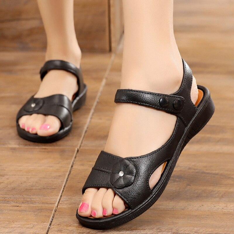 Summer Sandals Women Shoes Flat with Zapatos-De-Mujer Para Platform