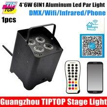 TIPTOP TP-G3045-6IN1 Литья Алюминия 6IN1 Батарея Питания Беспроводной DMX Номинальной RGBWA УФ Tyanshine Телефон App Управления 10000 МАЧ Батареи