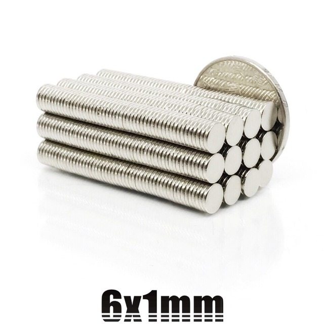 20/50/100Pcs 6mm X 1mm Strong Cylinder Rare Earth Magnet 6X1 Neodymium Bulk Sheet N35 Mini Small Round Magnets Disc 6*1mm