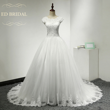 Three Quarter Long Sleeves Lace Wedding Dress A Line Peplum Wedding Gowns China Bridal Dress robe de mariage