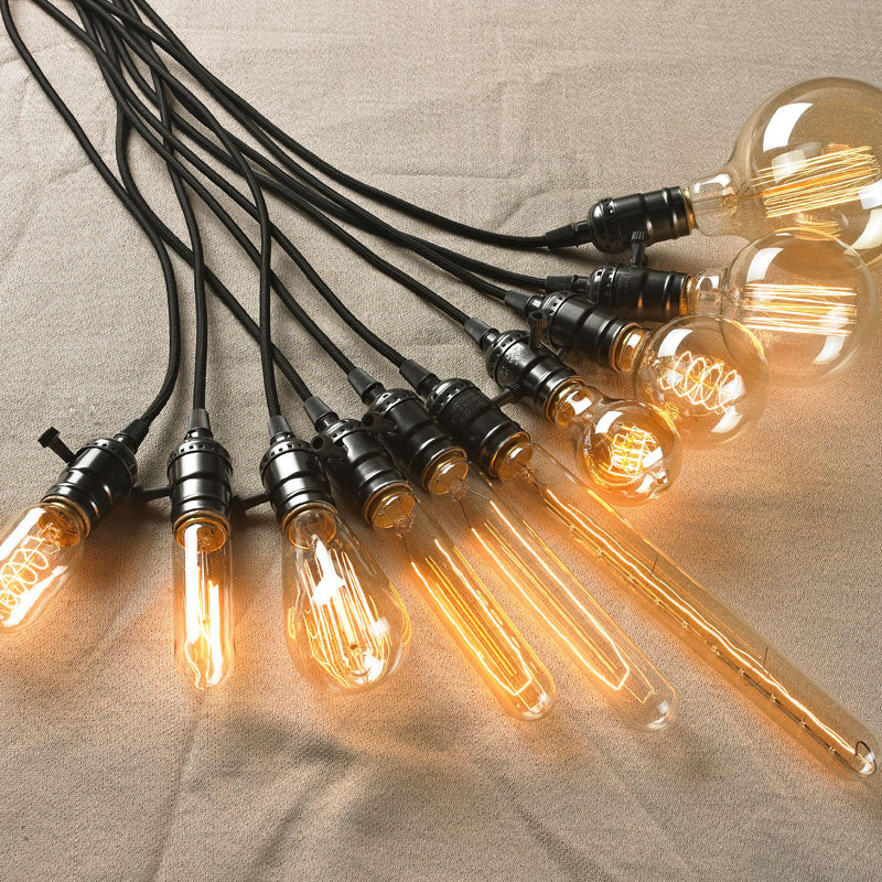 Vintage E27 Brass Base 40W Edison Bulb Light Retro