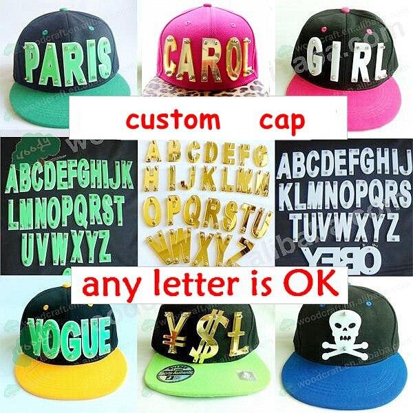 13e3da60 Custom Hiphop 3D acrylic letters Bolted spikes rivets custom snapback  fashion hats wholesale Adjustable Baseball Cap
