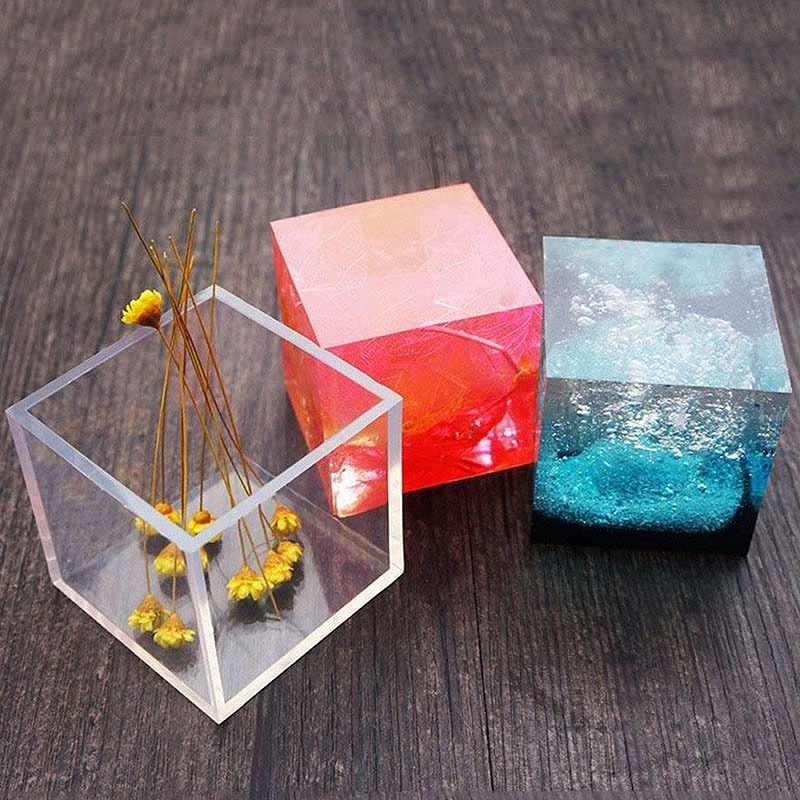 KINTRADE 6pcs Molde Cuadrado de Resina moldes de Silicona moldes de Resina fabricaci/ón de Joyas 6 tama/ños
