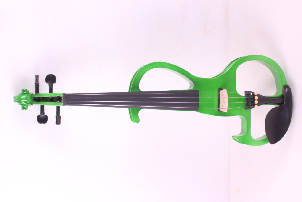 4 string 4/4 Electric Violin WHITE green color  #2 the item is the color   if you need other color please tell me 4 string 4 4 electric violin silent pickup fine tone solid wood3 the item is the color if you need other color please tell me