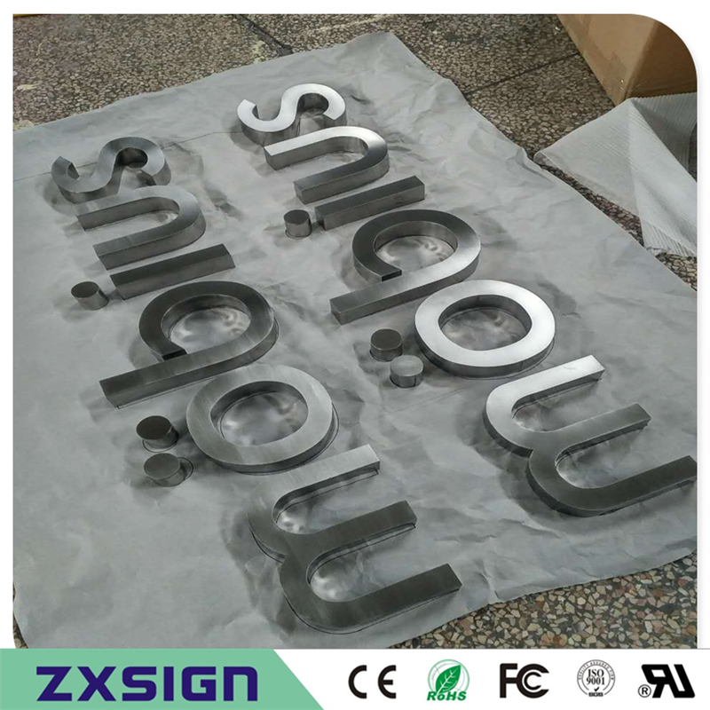 Factory Outlet Outdoor Metal Letters,stainless Steel Sign Letterings Store Name Sign Words