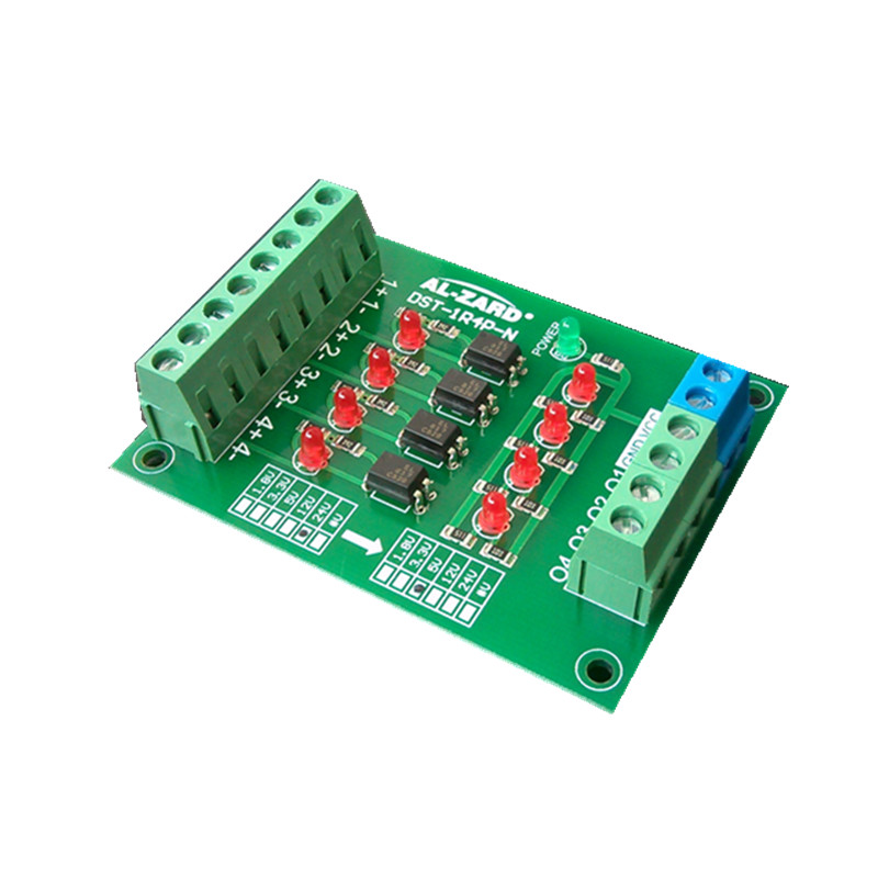 3.3V To <font><b>5V</b></font>/<font><b>5V</b></font> To <font><b>5V</b></font>/12V To <font><b>5V</b></font> 4 Channel Optocoupler Isolation <font><b>Board</b></font> Level Voltage Conversion <font><b>Board</b></font> PLC Signal image