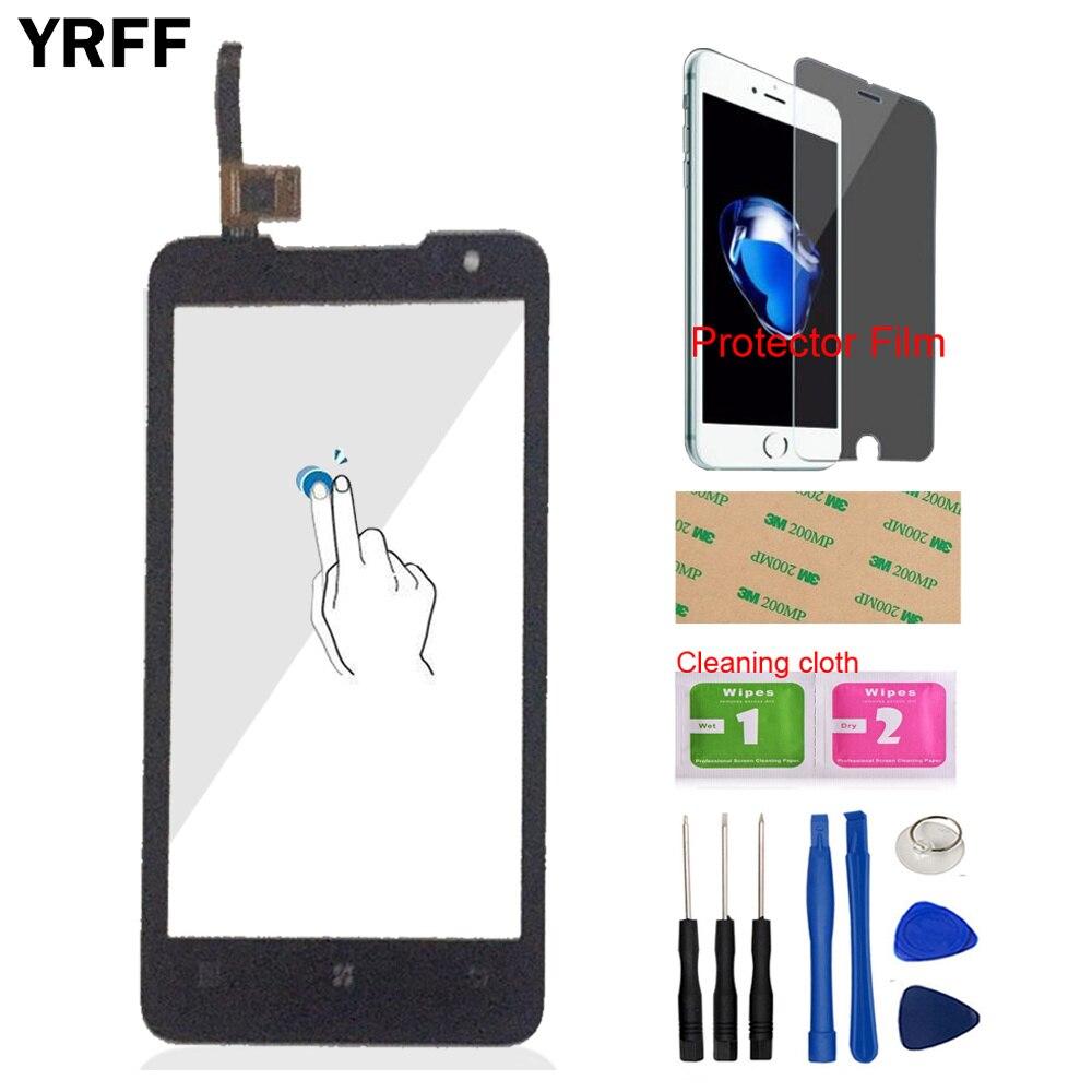 YRFF 4.5 ''電話フロントアウターガラスタッチパネルタッチスクリーンデジタイザレノボ P770 1080P 770 センサーツール送料プロテクターフィルム接着剤