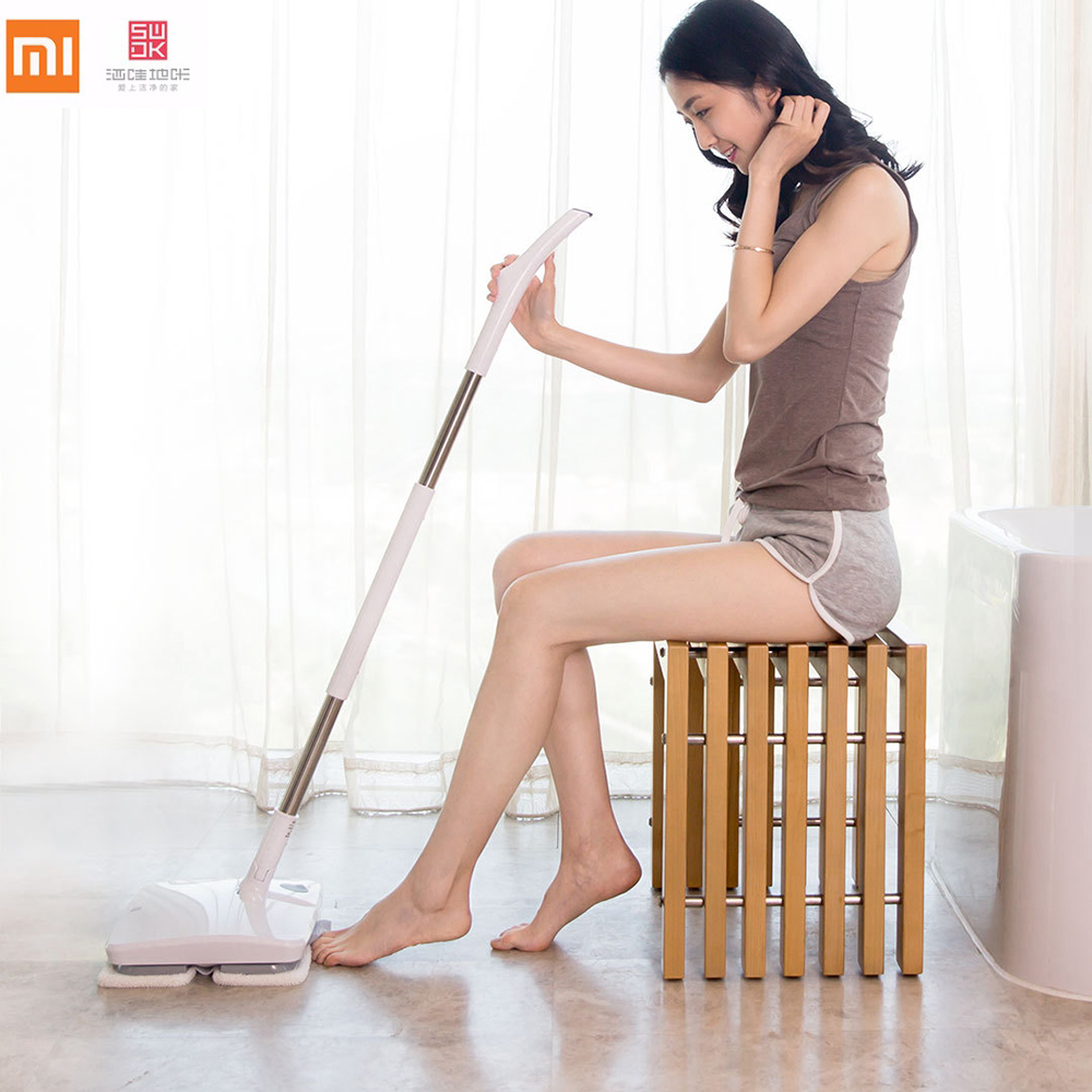 New arrival Xiaomi SWDK Wireless Handheld Electric Mop Wiper Floor Washers DC 12V 2000mAh Built in Battery Wiping Machine vacuum cleaner for sofa